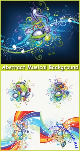 Abstract Musical Background - Stock Vectors