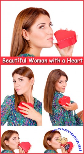 Beautiful Woman with a Heart - Stock Photos