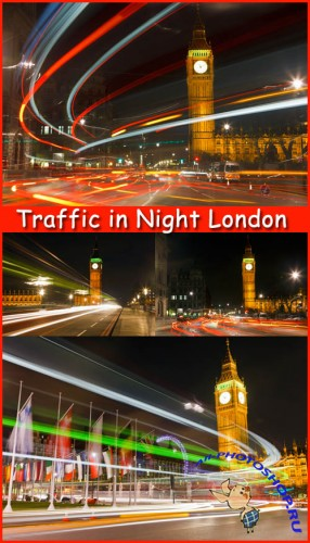 Traffic in Night London - Stock Photos
