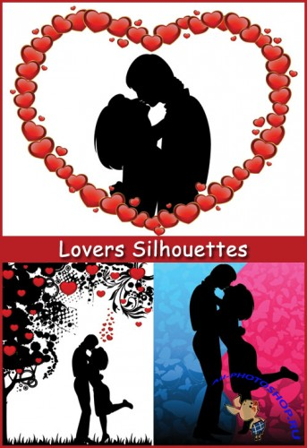 Lovers Silhouettes - Stock Vectors