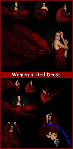 Women in Red Dress - Stock Photos