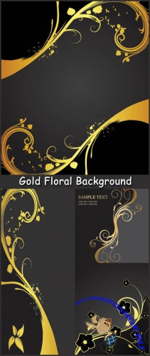 Gold Floral Background - Stock Vectors