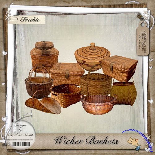 Scrap-kit - Wicker Baskets
