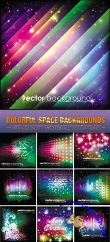 Colorful radiance space ( backgrounds vector )