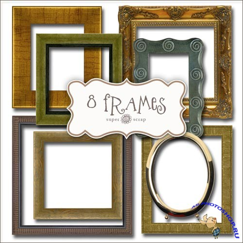 Scrap-kit - Old Frames Set
