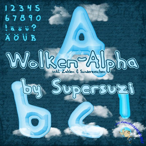Scrap-kit - Wolken Alpha
