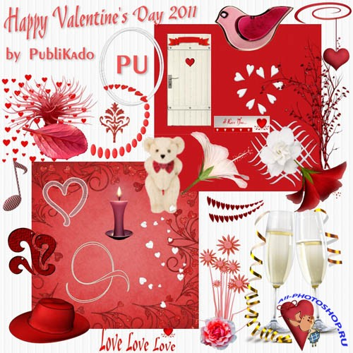 Scrap-set - Happy Valentines Day 2011