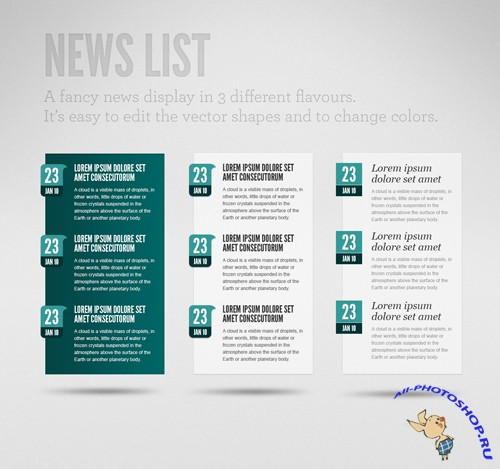 GraphicRiver Clean News List
