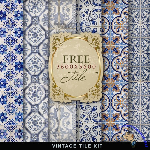 Textures - Old Blue Vintage Backgrounds