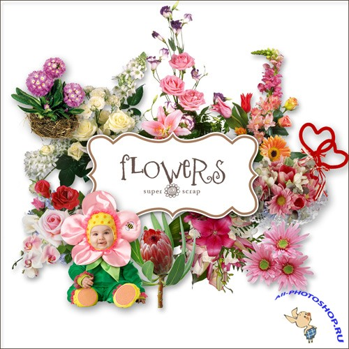 Scrap-kit - Flower Set #5