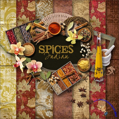 Scrap-set - Spices Indian