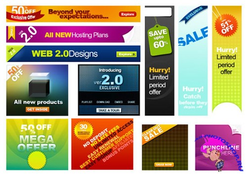 12 Banners PSD