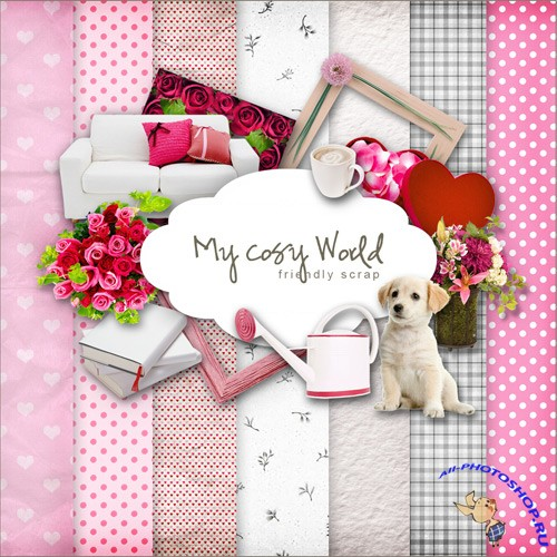 Scrap-set - My Cosy World