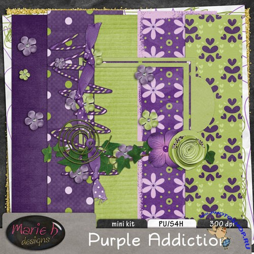 Scrap-set - Purple Addiction
