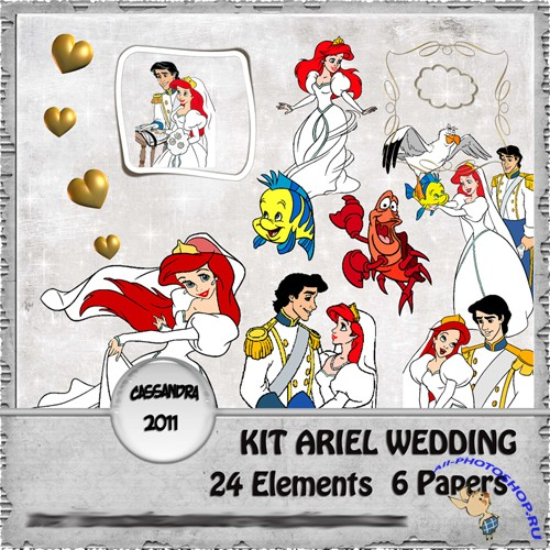 Scrap-set - Ariel - Kit Wedding