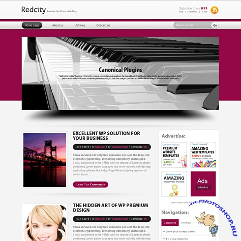 Dynamic CSS Templates - Redcity
