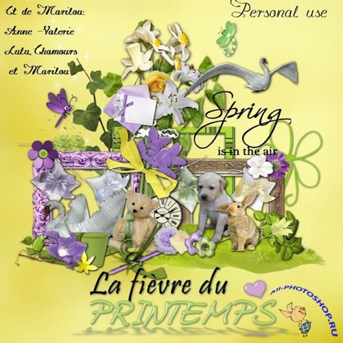 Scrap-set - La fievre du Printemps