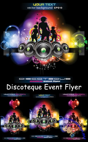 Discoteque Event Flyer - Stock Vectors