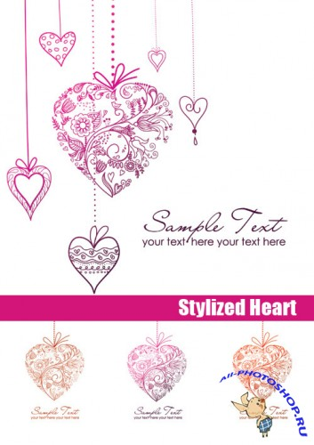 Stock Vectors - Stylized Heart