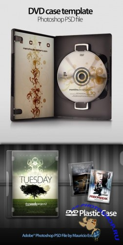 DVD Plastic Case - PSD files