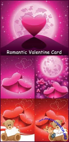 Romantic Valentine Card - Stock Vectors