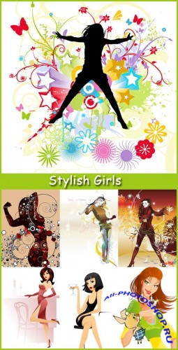 Stylish Girls - Stock  Vector