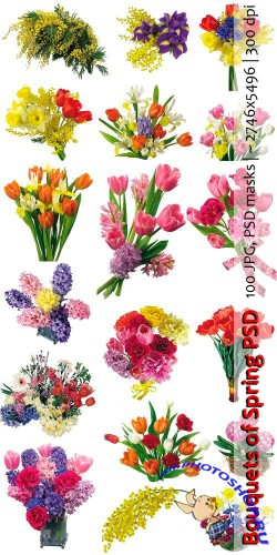 Bouquets of Spring PSD