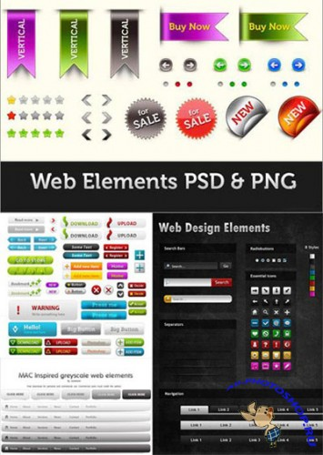Web Design Elements PSD Template