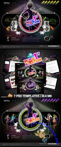 Music Audition Templates PSD Nr.70