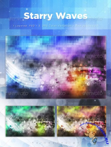 PSD-исходник - Starry Waves Web Backgrounds