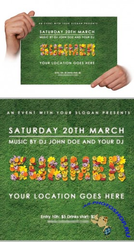Flyer Flower Template