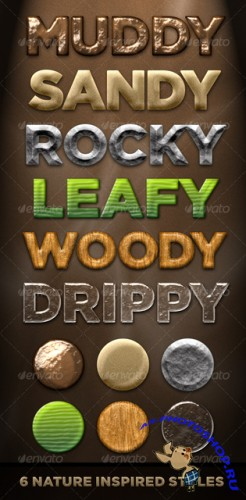 GraphicRiver 6 Nature Styles - Dirt, Stone, Wood, Plant, Water