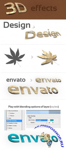 3D Photoshop Action v.1 (paper effect) - GraphicRiver