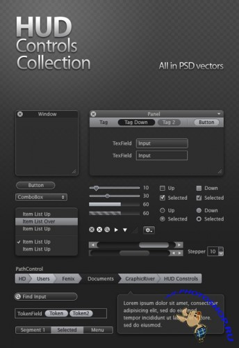 GraphicRiver HUD Controls Collection
