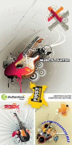 Shutterstock - Abstrack Guitar Composition Vectors 4xEPS