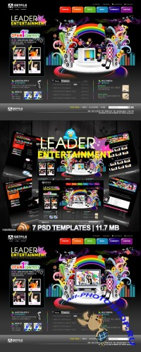 Leader Entertainment Templates PSD Nr.77