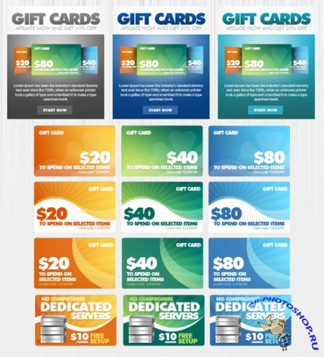 Graphicriver Promotional Cards/Banners