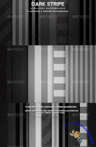 22 Dark Striped Modern Backgrounds - GraphicRiver