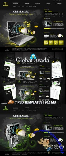 Global Asadal Templates PSD Nr.89