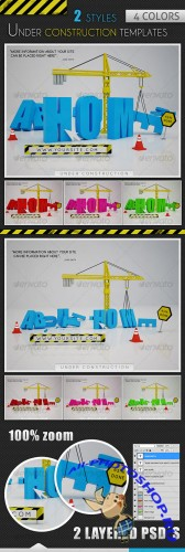 GraphicRiver Under Construction Templates - 2 Styles - 4 Colors