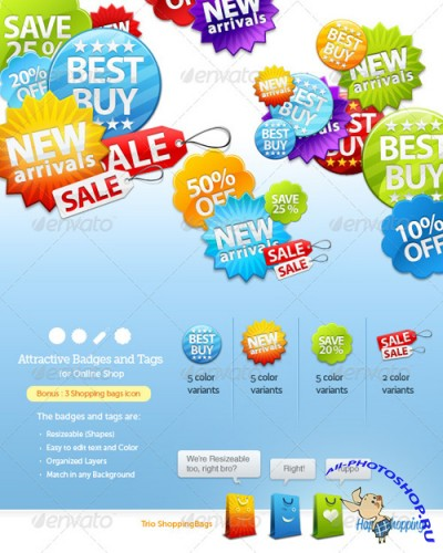 Badges and Sale Tags for Online Shop - GraphicRiver