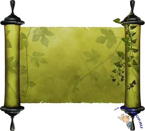 Green Scroll PSD