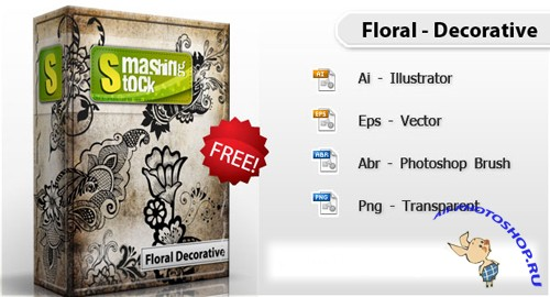Floral Decorative Free Pack