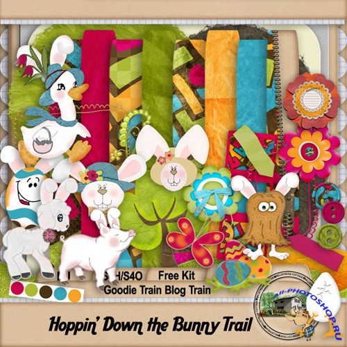 Scrap-set - Happin Down The Bunny Trail