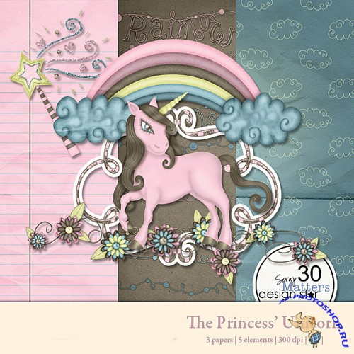 Scrap-set - The Princess Unicorn