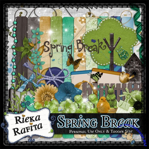 Scrap-set - Spring Break