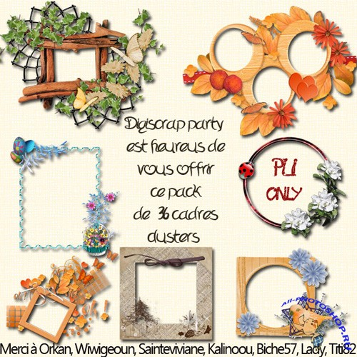 Scrap-kit - Cadres Cluter Digiscrap Party