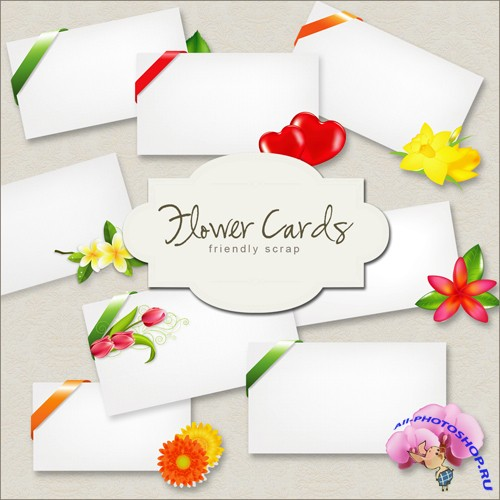 Scrap-kit - Flower Cards Set