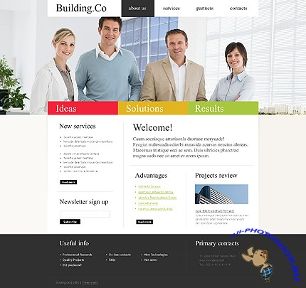 Building Co Website Free Template