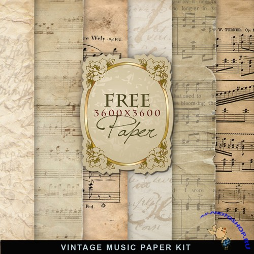 Textures - Vintage Music Paper Backgrounds